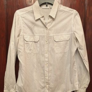 Long sleeve white button down